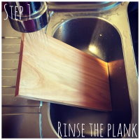 salmon planks rinse the plank
